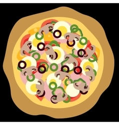 Pizza black background vector
