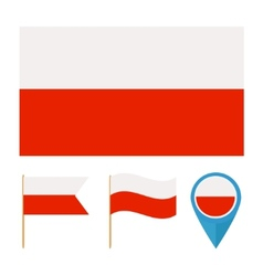 Poland country flag vector image vector image