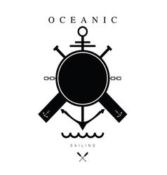Sailing icon black vector
