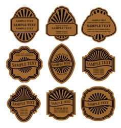 set of vintage brown labels vector image vector image