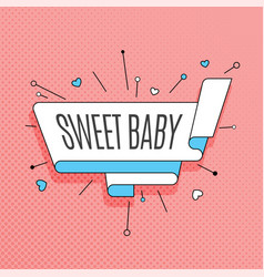 Sweet baby retro design element in pop art style vector