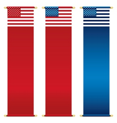 usa banners vector image vector image