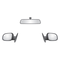Car mirrors vector image