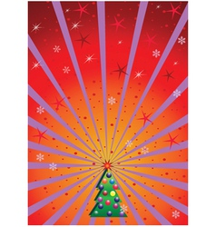Xmas background with rays vector