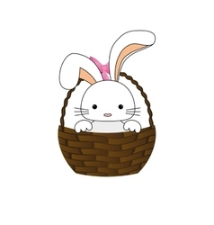 Happy easter bunny cartoon isolated icon vector