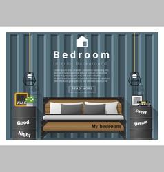 Modern bedroom background interior design 8 vector