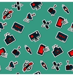 Colored mass media pattern vector