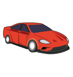 Red sport car luxury speed vehicle vector