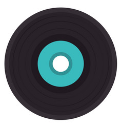 vinyl disk isolated icon vector image