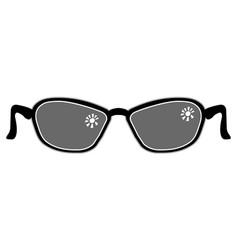 Symbolic image of sunglasses vector