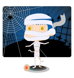Little mummy boy vector