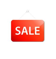 Red sale board vector