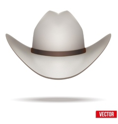 White cowboy hat  isolated on white background vector