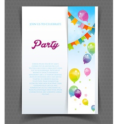 Party banner with flags and ballons vector