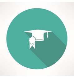 Square academic cap icon vector