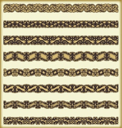 Vintage border set for design vector