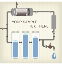 Infographics scheme with liquid a water tank vector