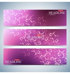 Set of polygonal horizontal backgrounds molecule vector