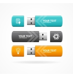Usb flash option banner vector