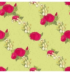Seamless floral pattern with peonies vector