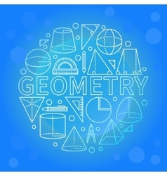 Blue geometry background vector