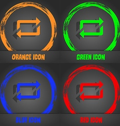 Repeat icon fashionable modern style in the orange vector