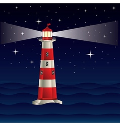 Lighthouse and night sea3 vector