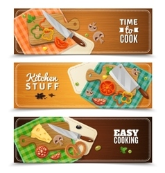 Cooking Horizontal Banners vector image