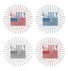 4th july american independence day set vector