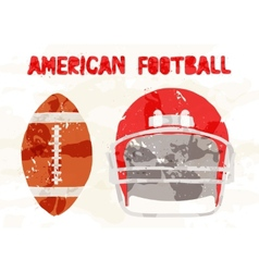 Abstract accessories american football vector