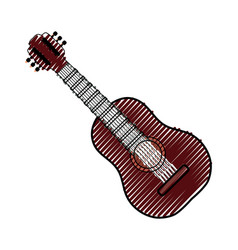 acoustic guitar music instrument vector image vector image
