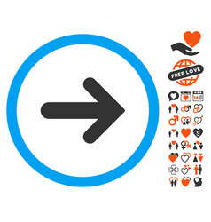 arrow right icon with lovely bonus vector image