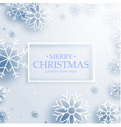 Beautiful winter snowflakes on white background vector