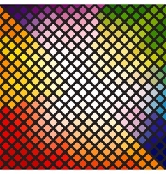 Bright multi-colored mosaic vector image vector image