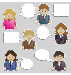 business people speech vector image