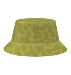 Camp hat icon cartoon style vector