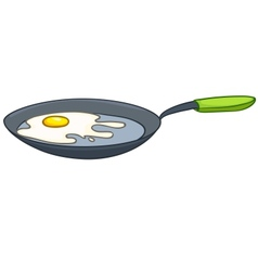 cartoon home kitchen pan vector image