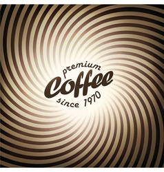coffee abstract design vector image vector image