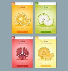 Colorful fruit banner for app design 1 vector