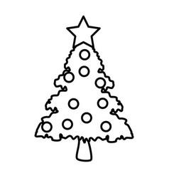 decorative christmas tree vector image vector image