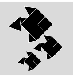 Flat of origami design vector