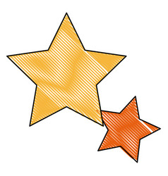 Gold star icon favorite business internet trendy vector
