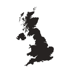 great britain map silhouette icon vector image