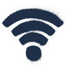 Grunge drawing wi-fi sign vector