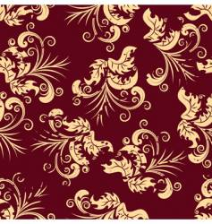 grunge floral seamless background vector image vector image