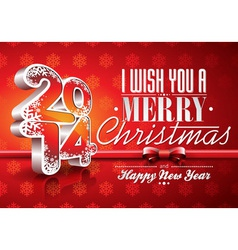 Happy New Year 2014 red celebration background vector image vector image