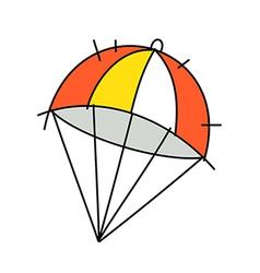 Icon parachute vector