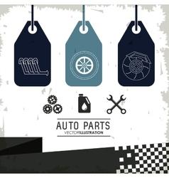 Labels icon set Auto part design graphic vector image vector image