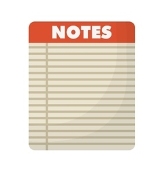 lined notepad icon image vector image vector image