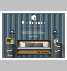 Modern bedroom background Interior design 8 vector image vector image
